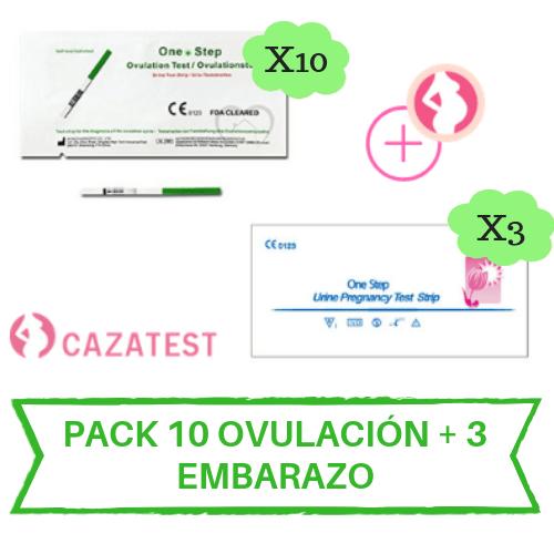 test embarazo y ovulacion pack 10 +3