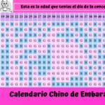 Calendario chino de embarazo 2020